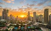 Makati City during sunset