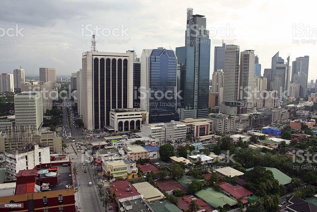makati city metro manila skyline philippines royalty-free stock photo