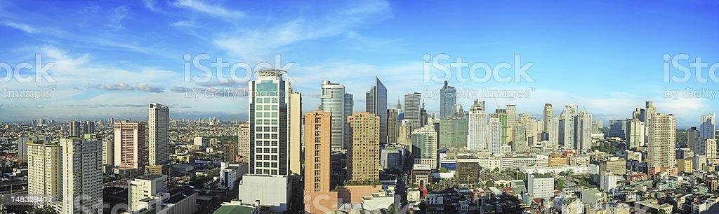 Makati city stock photo