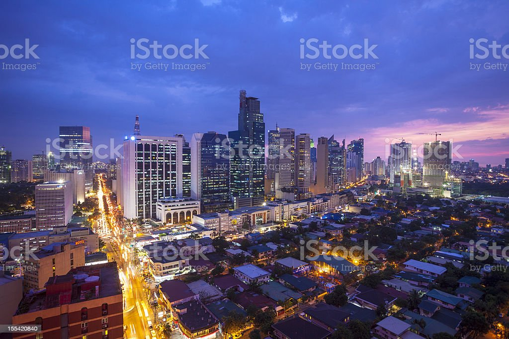 Makati Manila Skyline stock photo