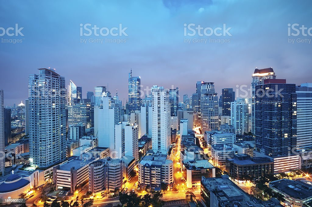 Makati skyline (Manila - Philippines) royalty-free stock photo