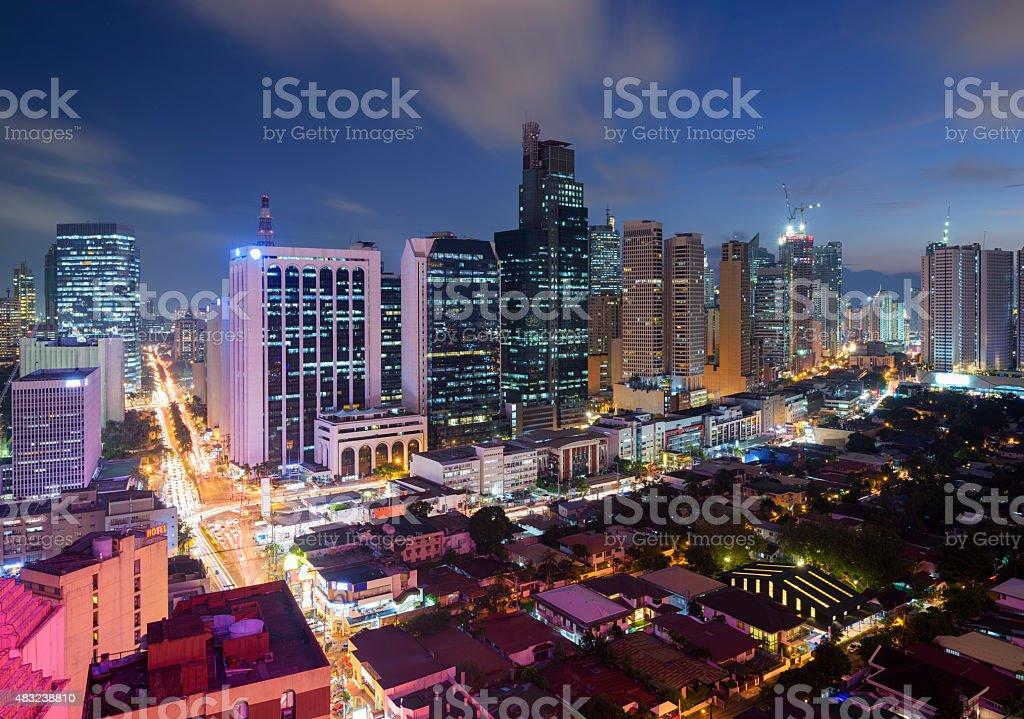 Makati Skyline (Metro Manila) stock photo