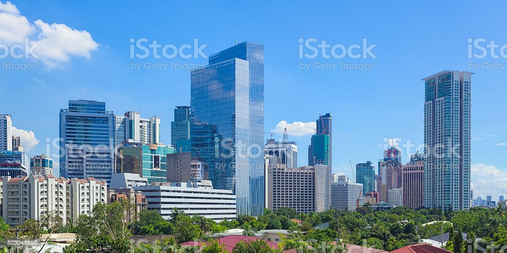 Makati skyline stock photo