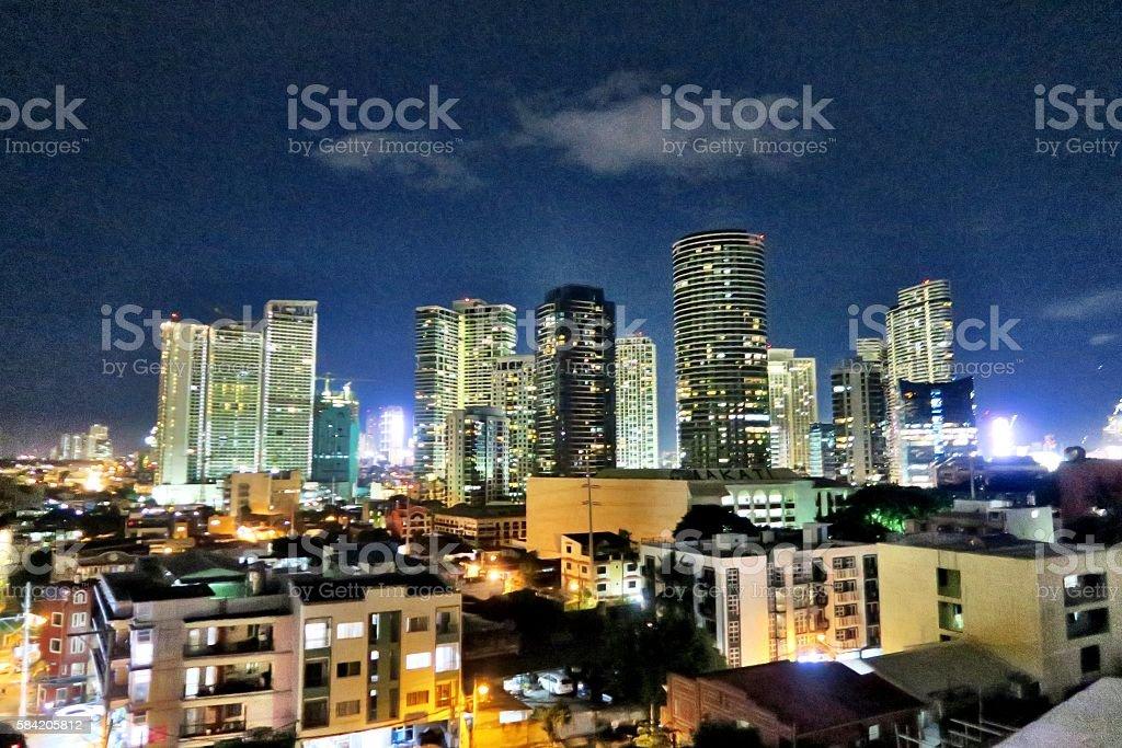 Makati skyline stock photo