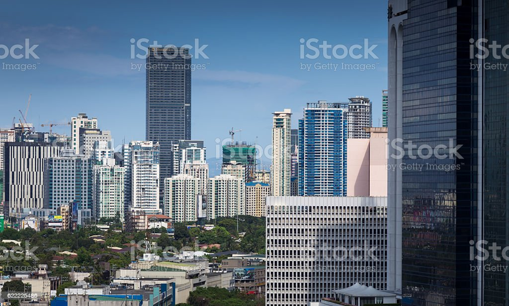 Makati Skyscrapers, Manila, The Philippines stock photo