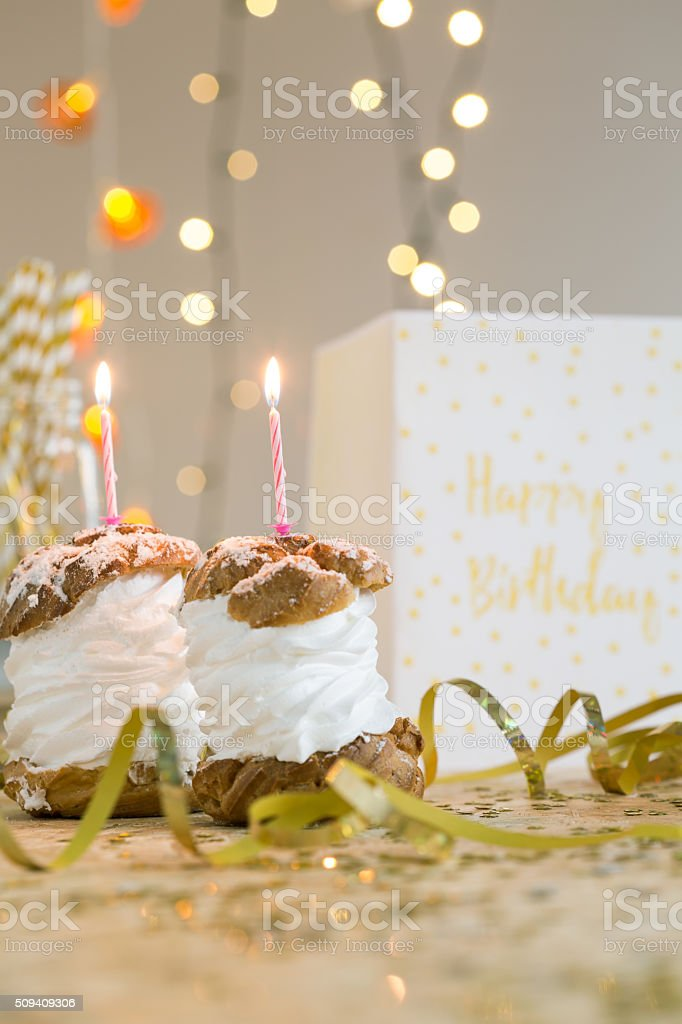 Make a birthday wish stock photo