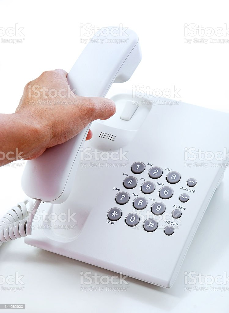 Make a call stock photo
