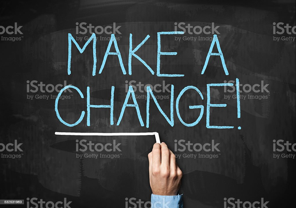 Make a Change / Blackboard (Click for more) stock photo