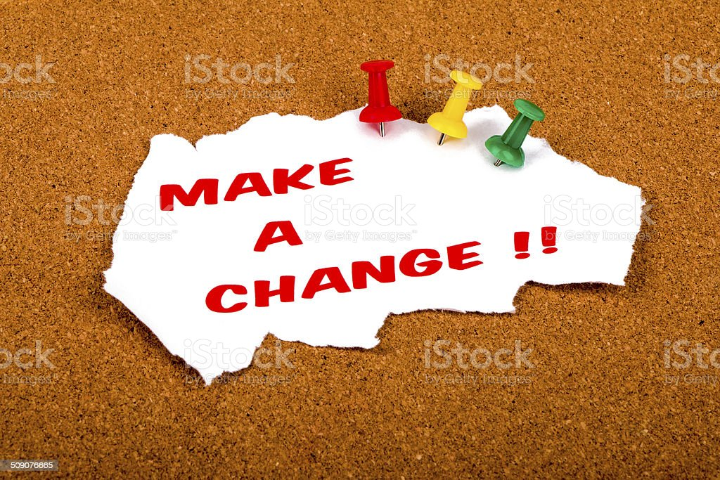 make a change stock photo