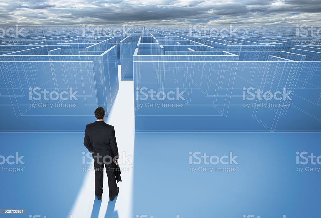 Make a decision. Achieving the goal. stock photo
