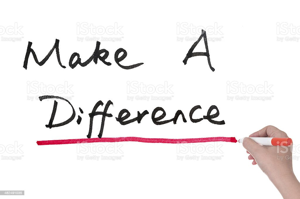 Make a difference stock photo