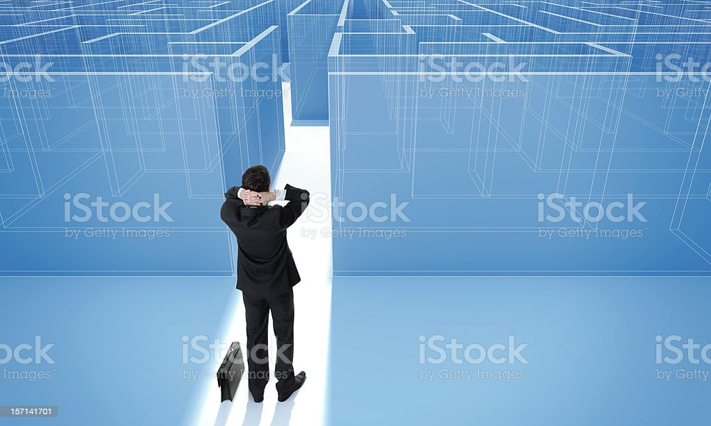 Make a difficult decision. stock photo