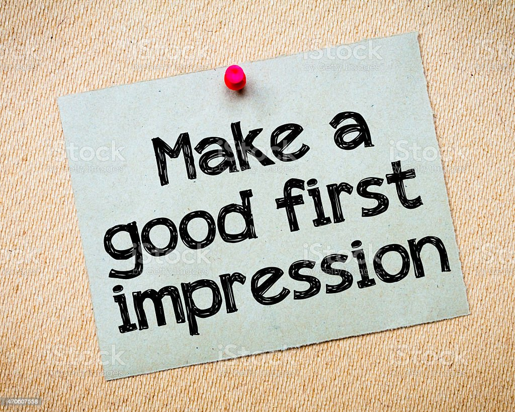 Make a first good impression stock photo