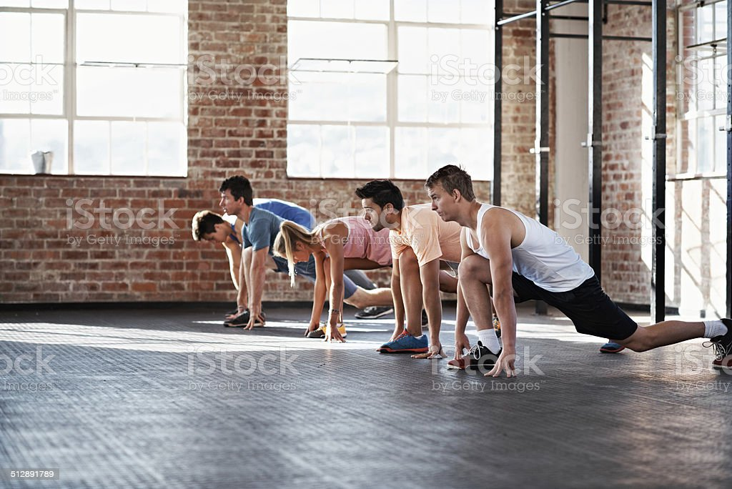Make a lunge for success stock photo