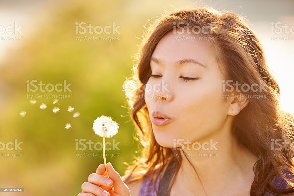 Make a wish... stock photo