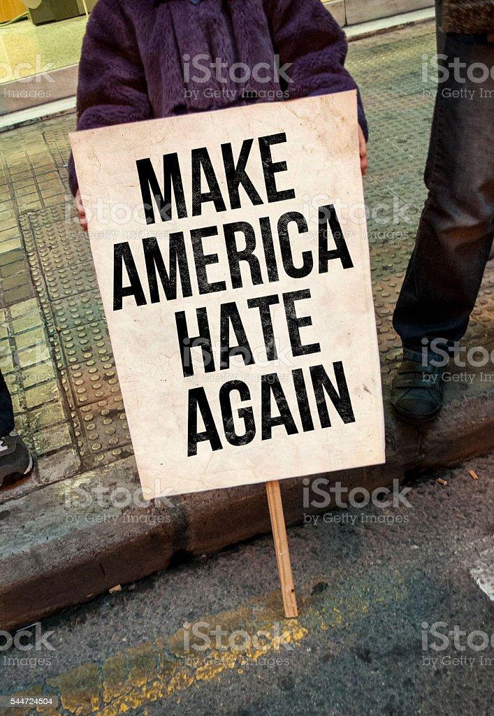 Make america hate again stock photo