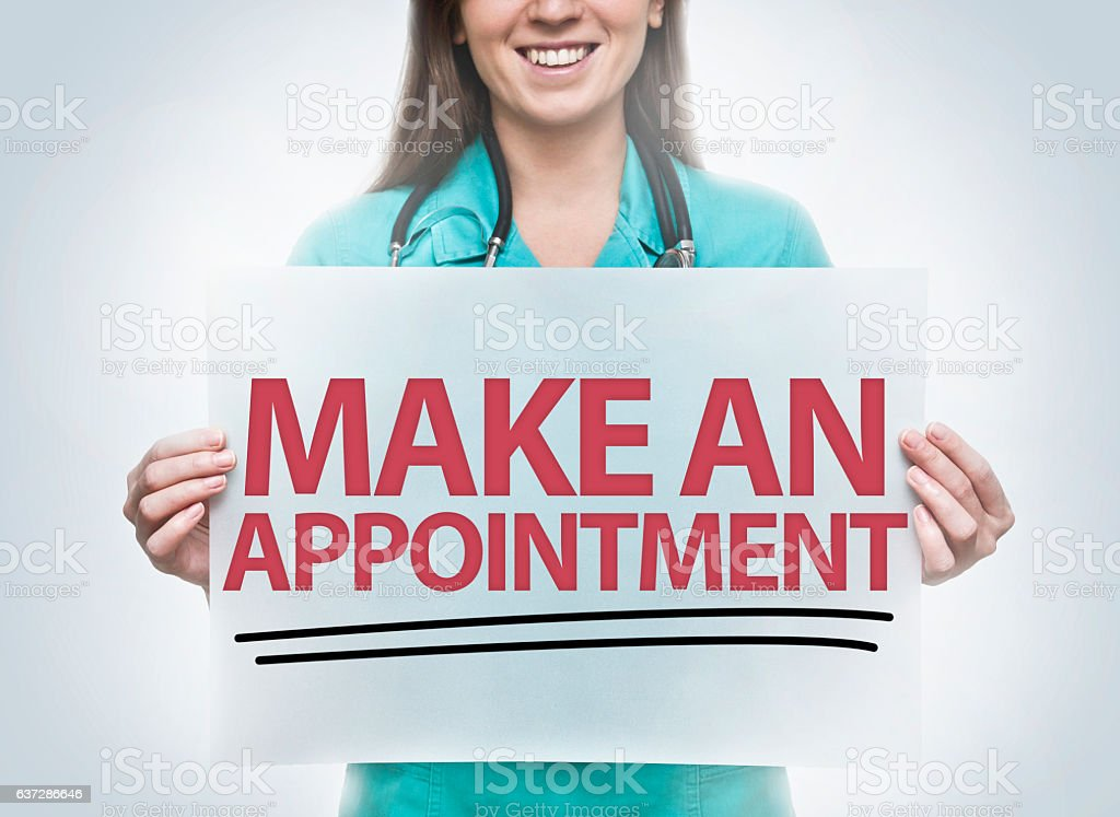 Make an appointment / Healthcare concept (Click for more) stock photo