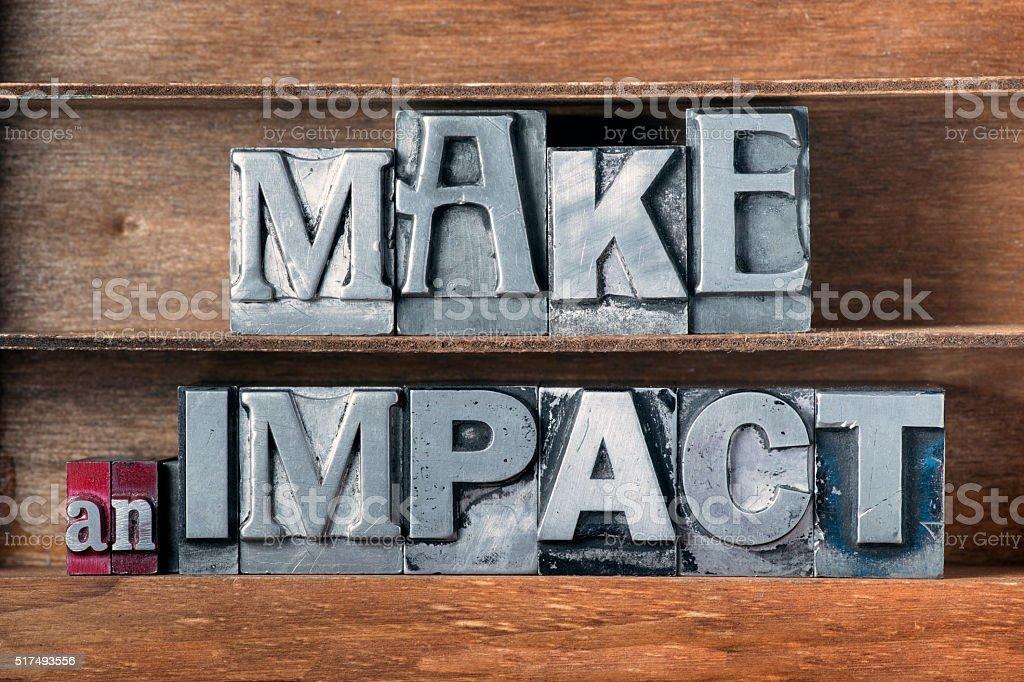 make an impact tray stock photo