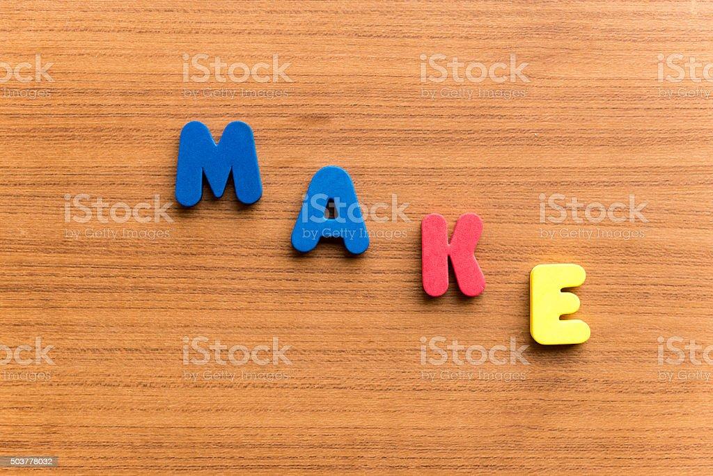 make  colorful word stock photo