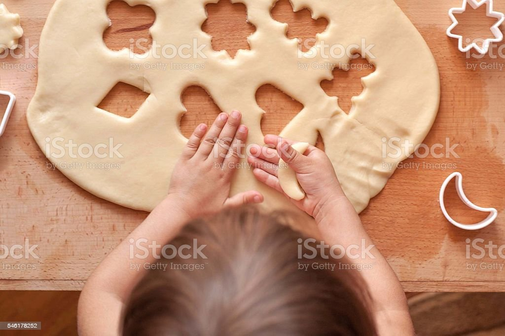 Make cookie dough stock photo