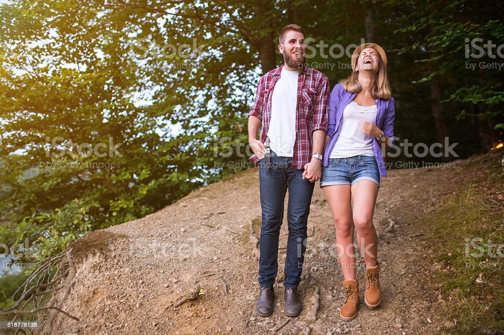 Make her laughing! stock photo