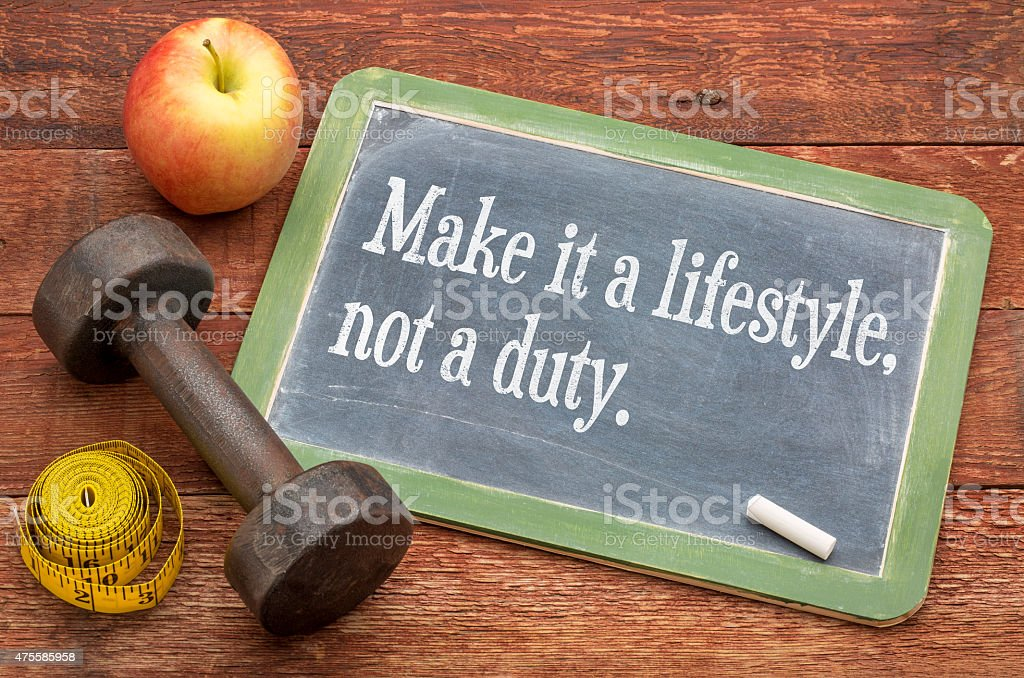 Make it a lifestyle, not a duty stock photo