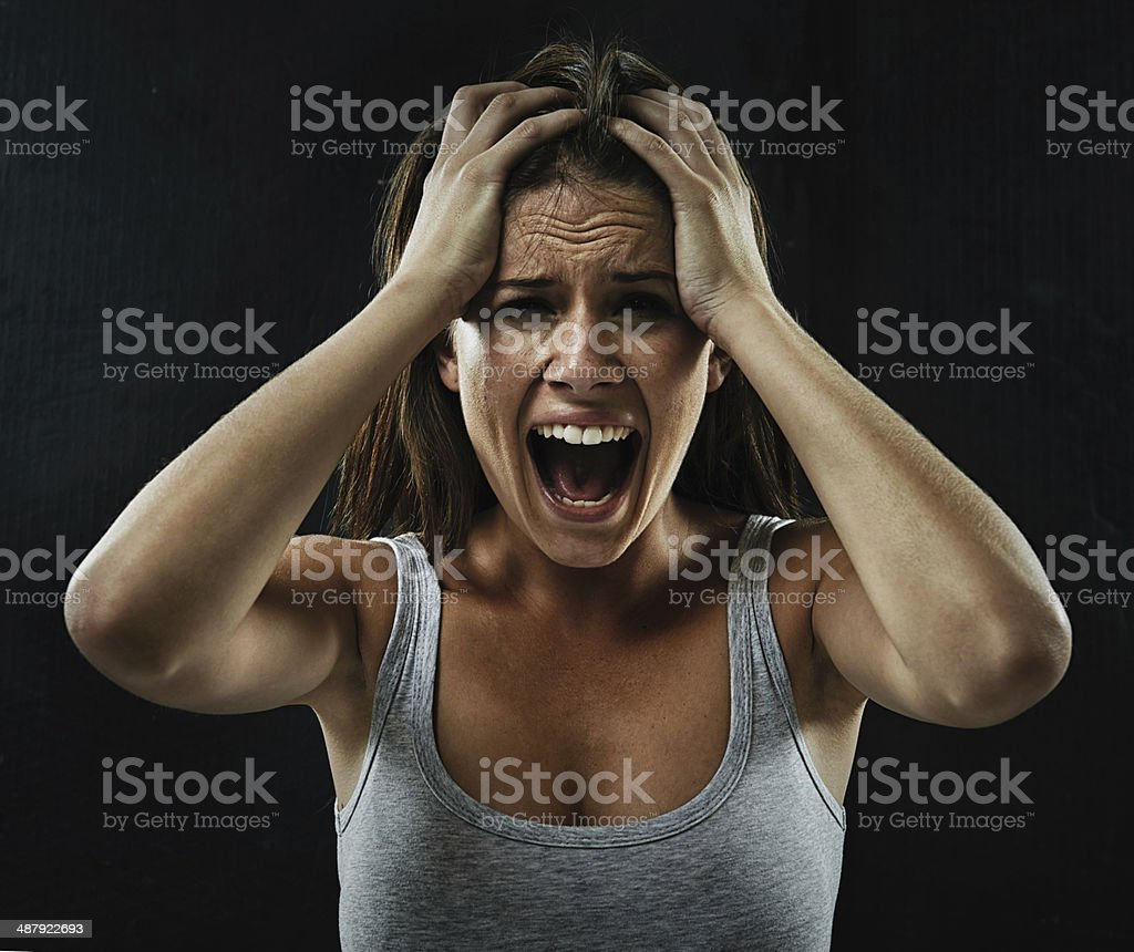 Make it go away! stock photo