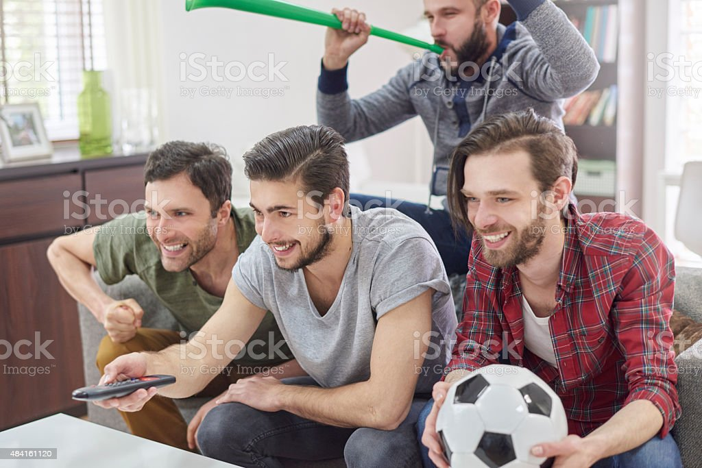 Make it louder because our team is winning stock photo
