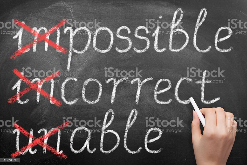 Make it possible on blackboard stock photo