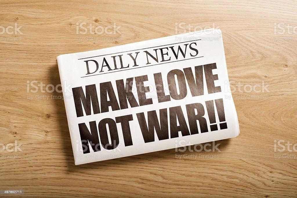 make love not war stock photo