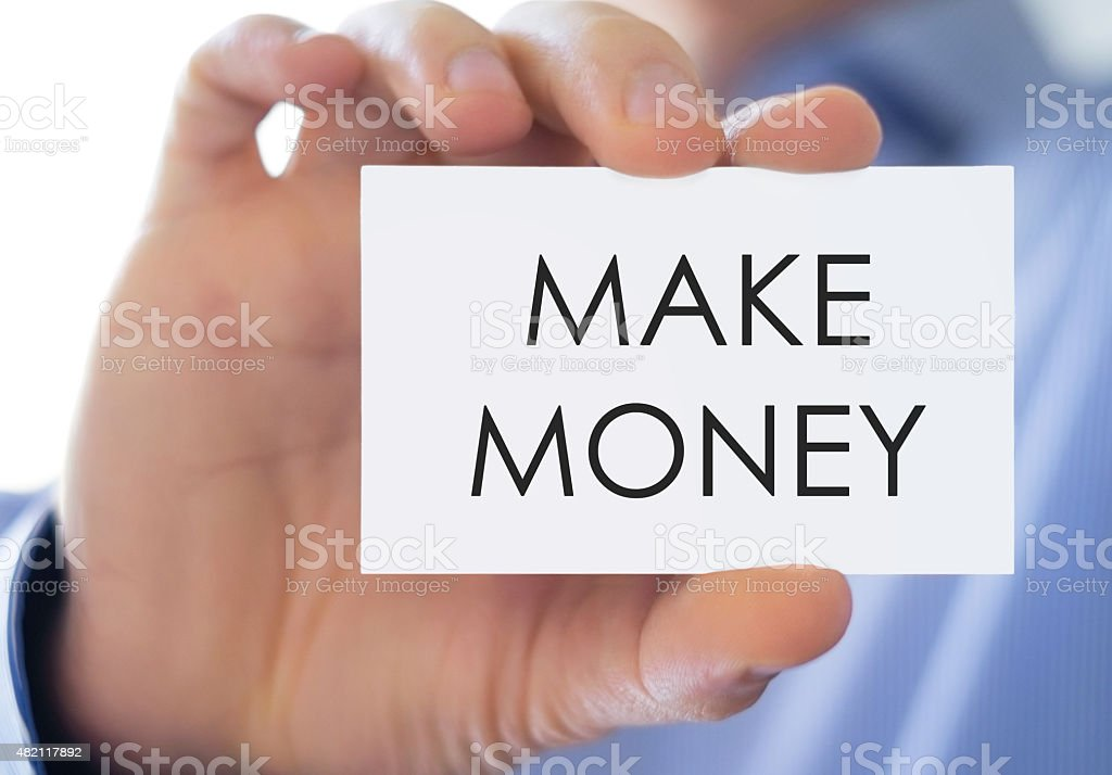 make money - business card concept stock photo