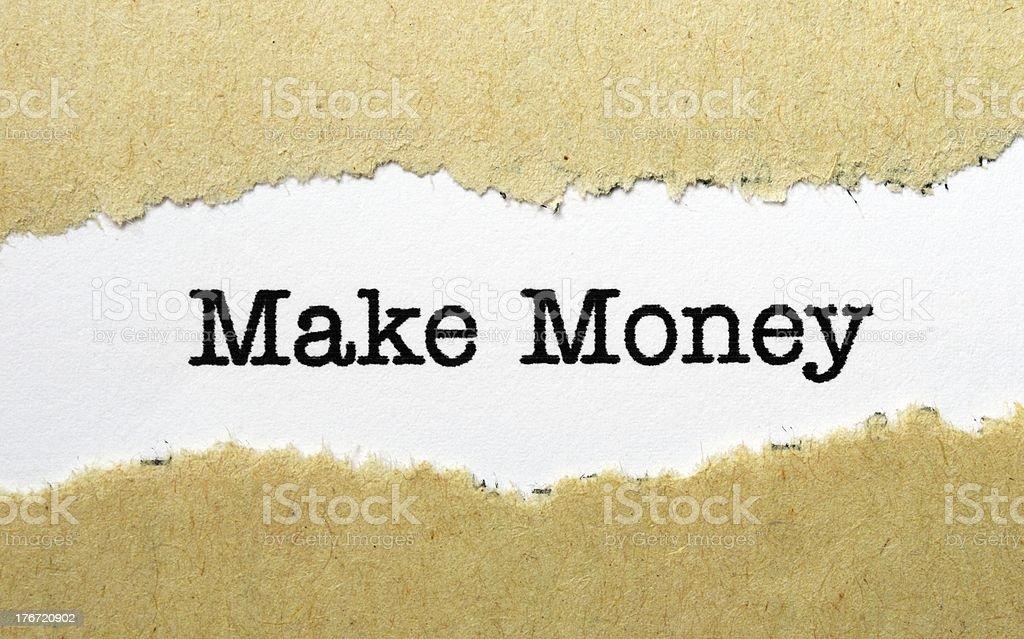 Make money concept royalty-free stock photo