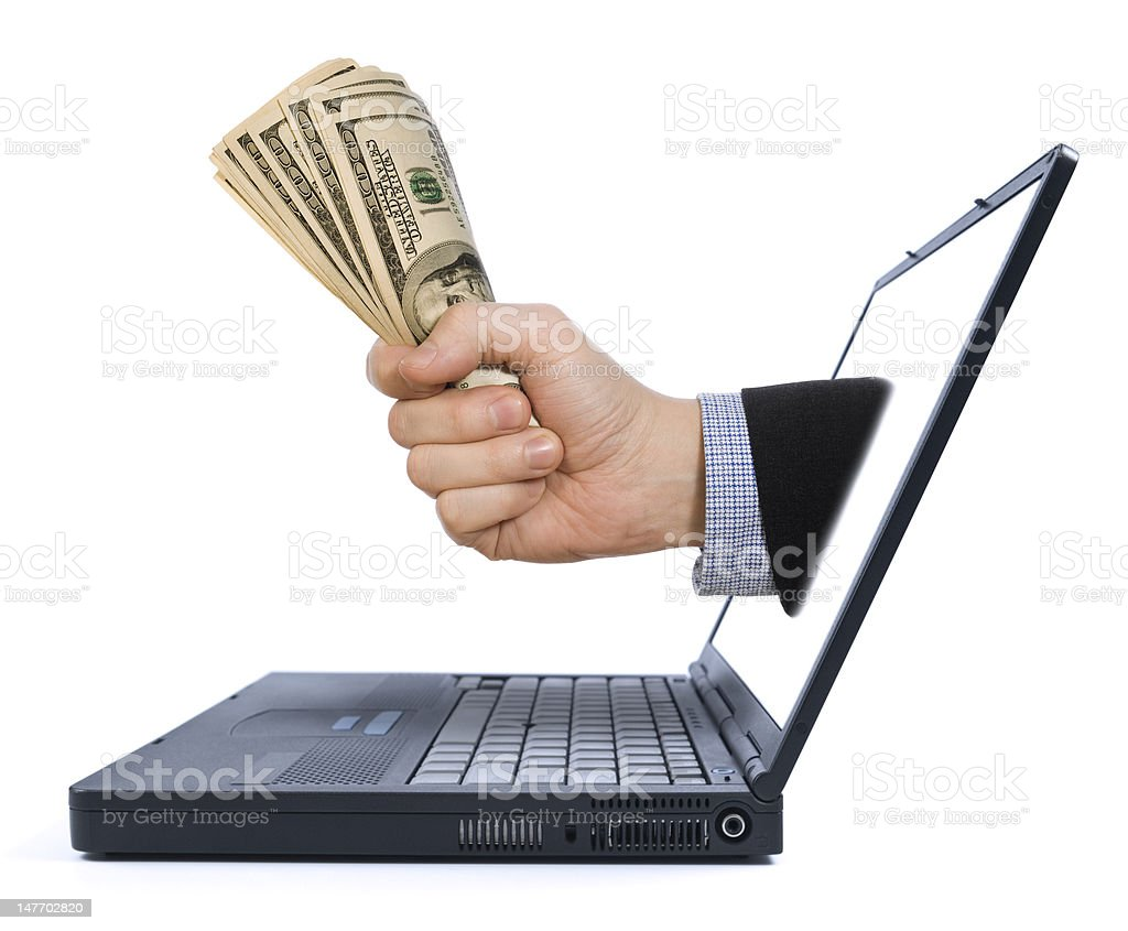 Make money from home royalty-free stock photo