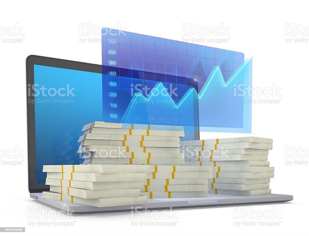 Make money on line. stock photo