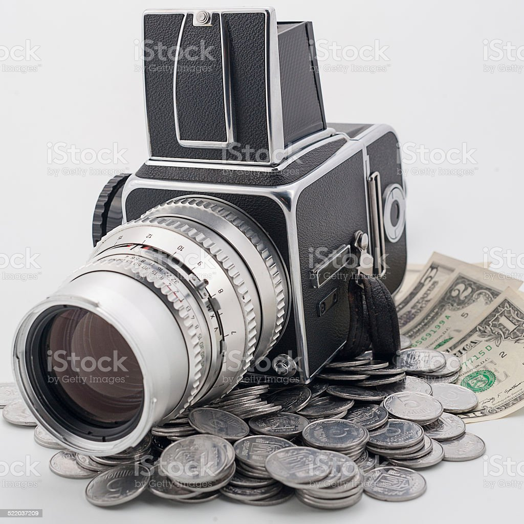 Make money on the photos stock photo