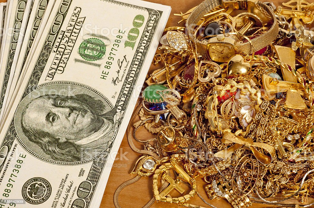 Make Money Selling Your Gold Jewelry stock photo