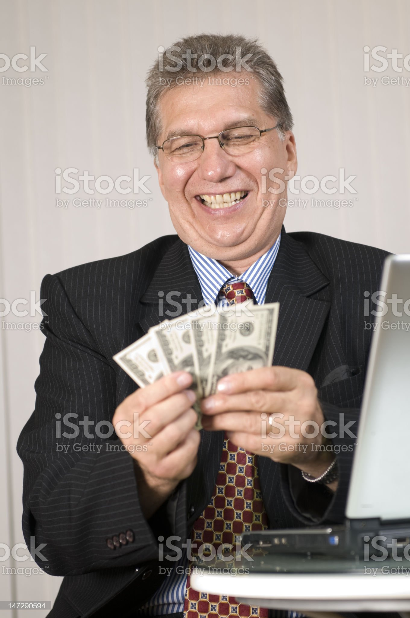 Make money with computer royalty-free stock photo