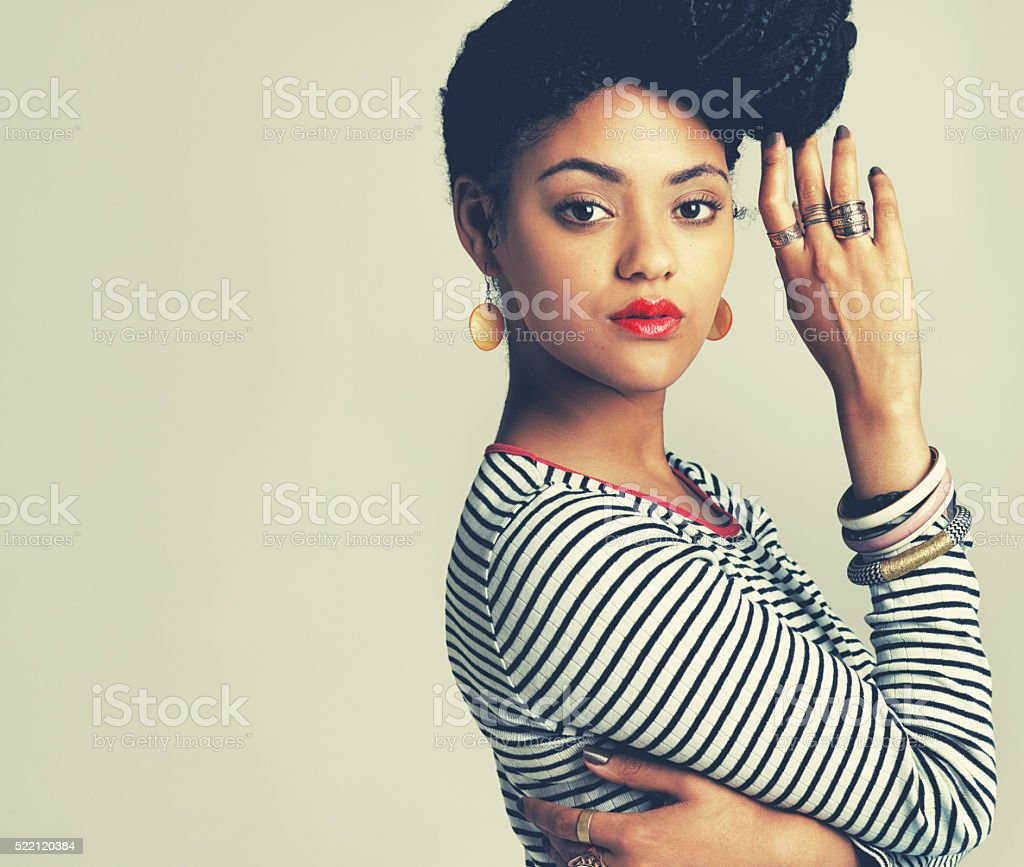 I make my outfits my own with the right accessories stock photo