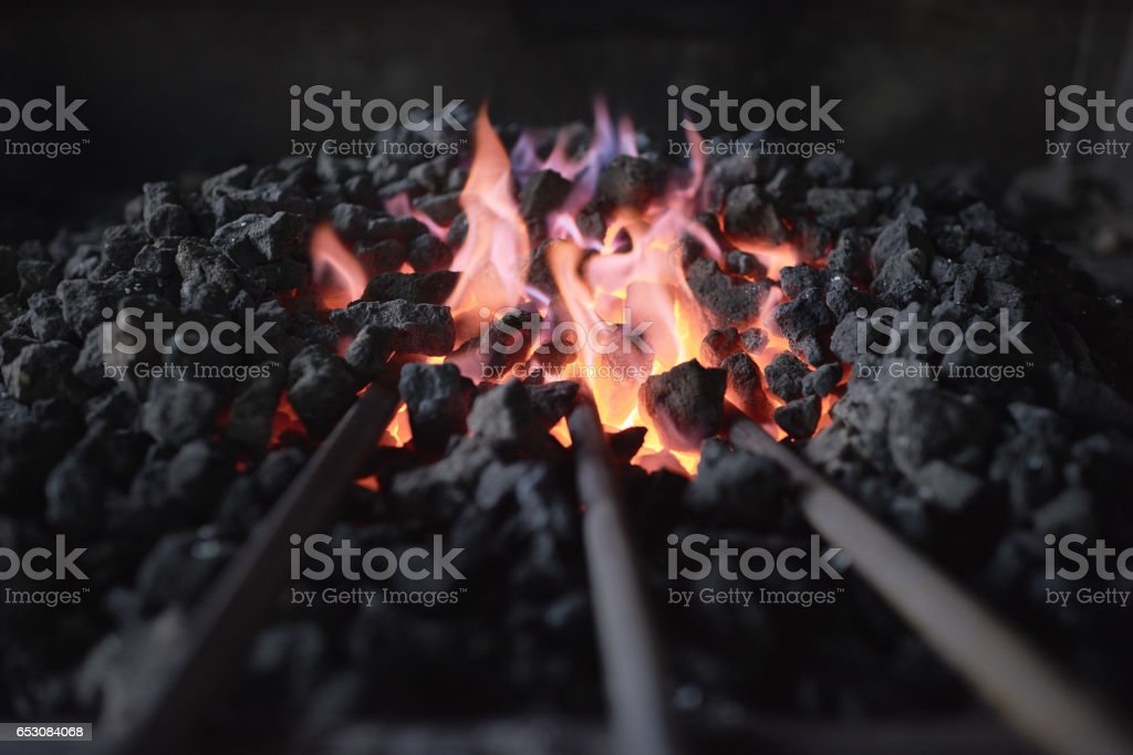 Make red-hot metal stock photo