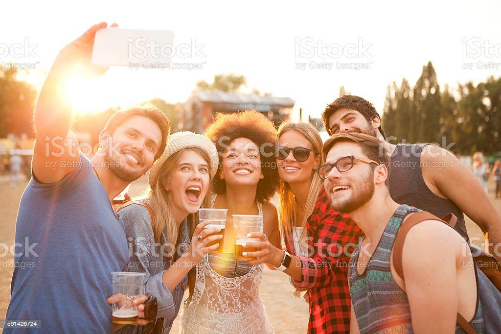 Make summer festival memories stock photo
