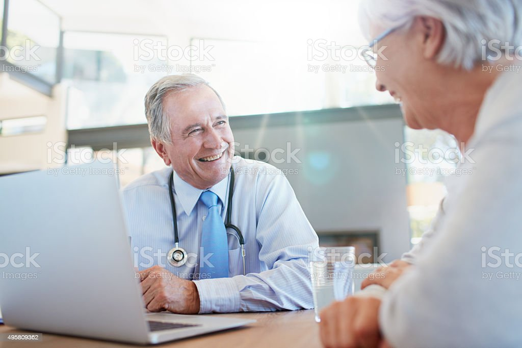 Make sure that your health is in good hands stock photo
