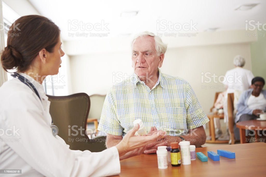Make sure you only take one tablet a day royalty-free stock photo