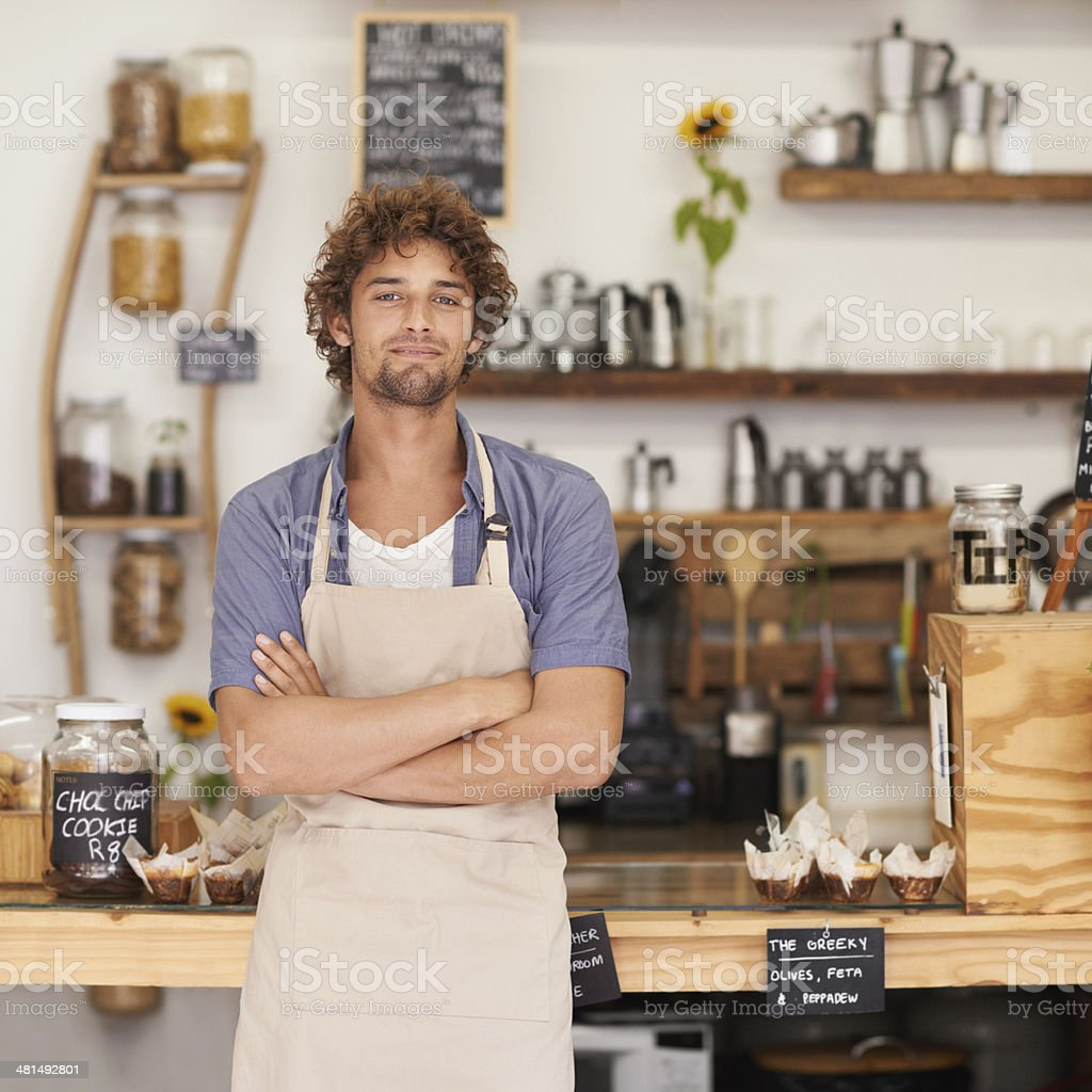 I make the best coffee in town! stock photo