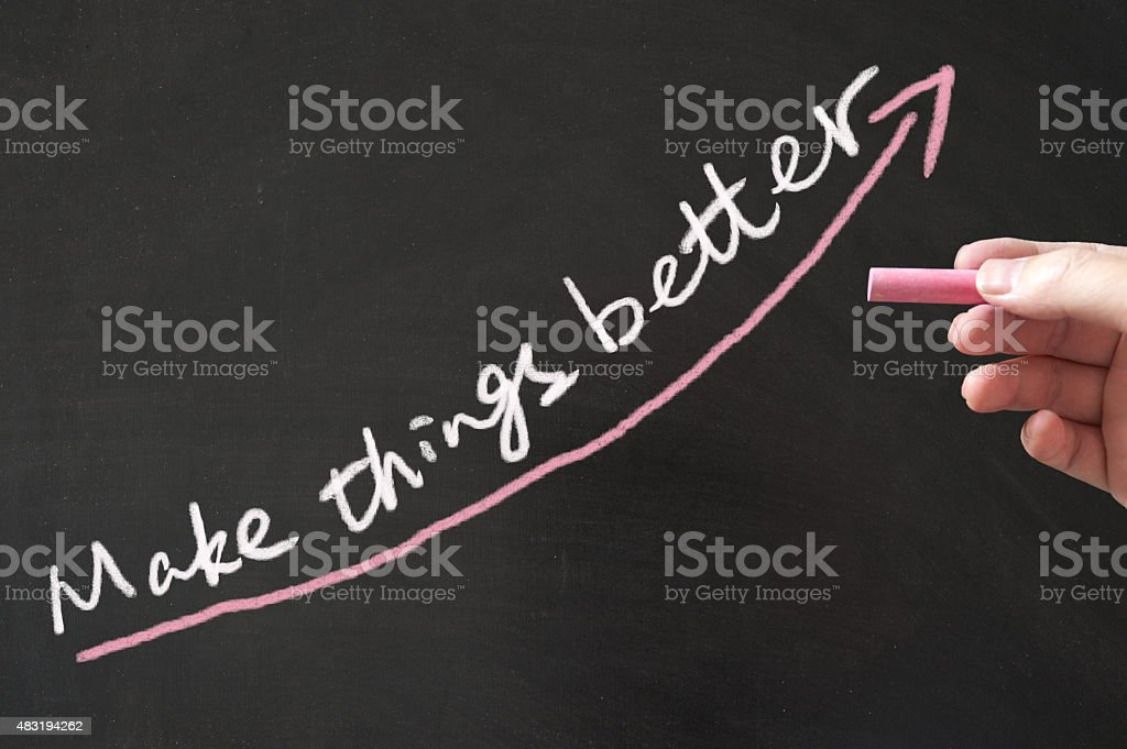 Make things better concept stock photo