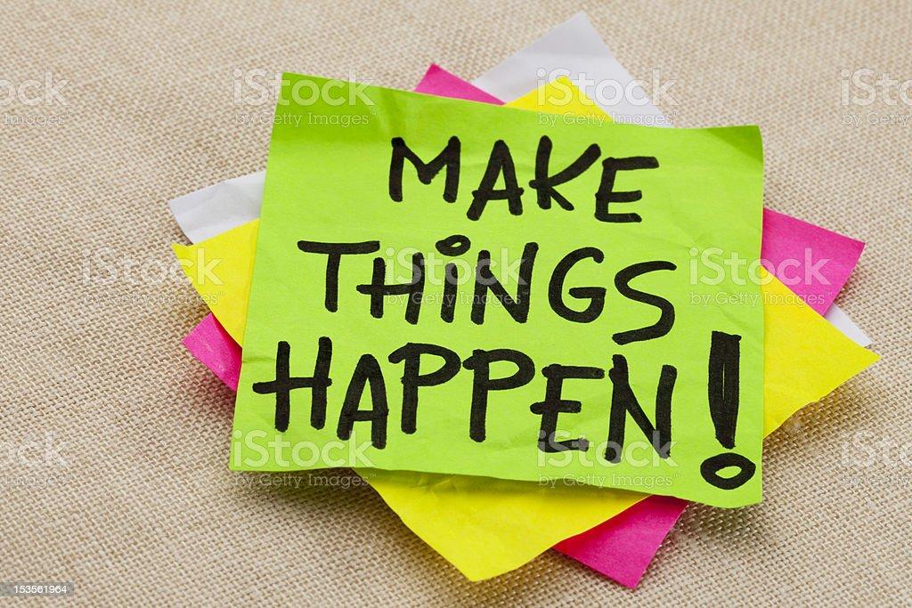 Make things happen stock photo