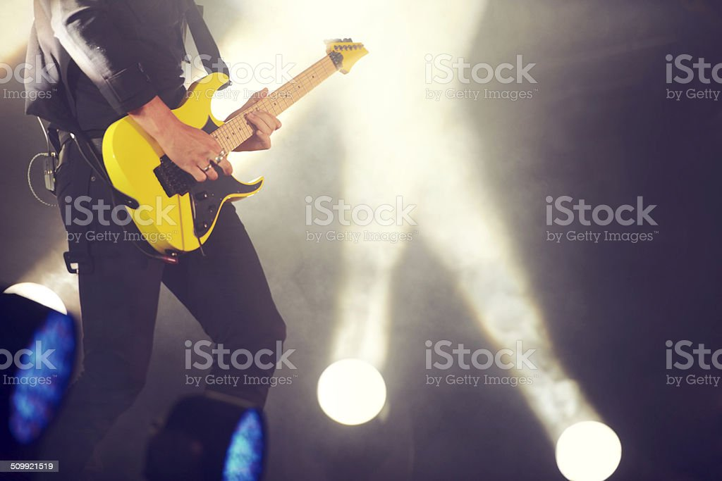Make those strings sing! stock photo