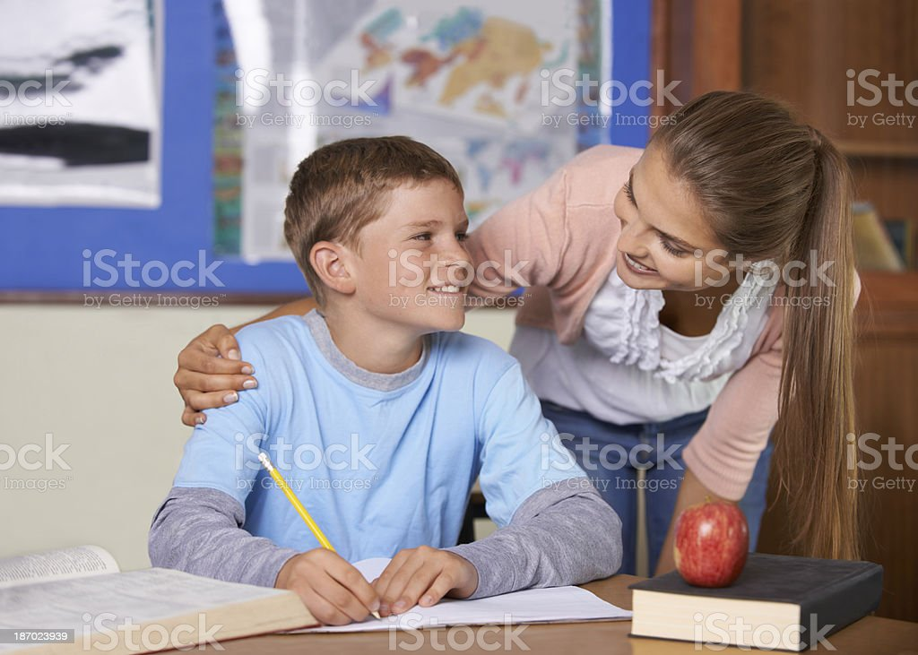 I make time for all my students royalty-free stock photo