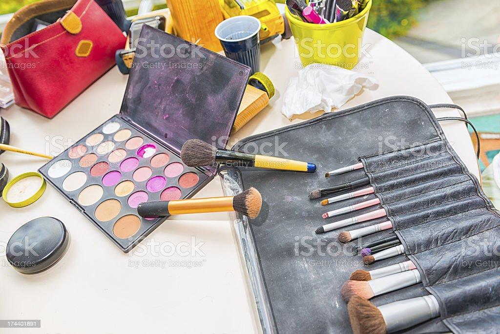 Make up accesori tools stock photo