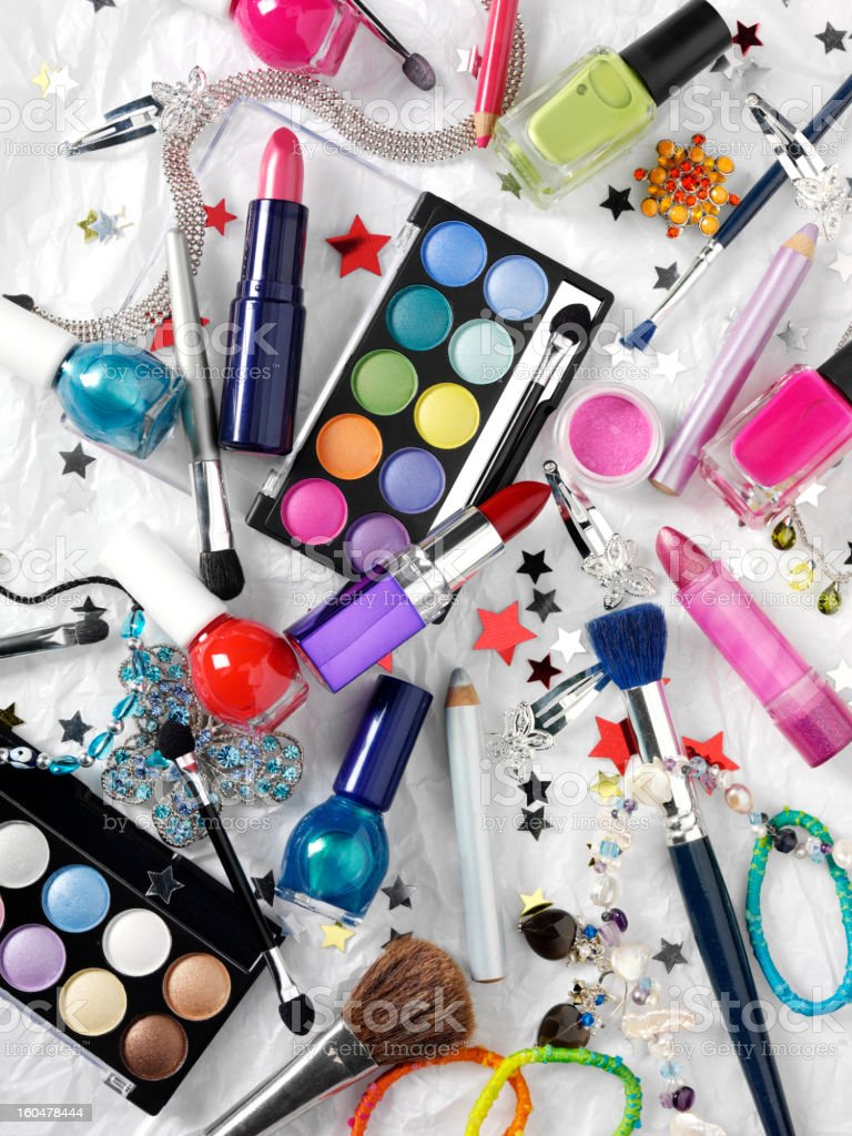 Make Up and cosmetics royalty-free stock photo