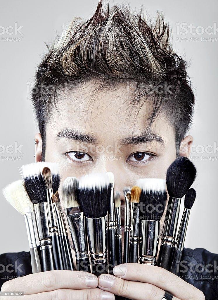 Make Up Artist royalty-free stock photo